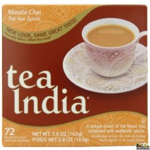 Tea India black tea bags - 72 Cnt