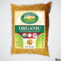 Sukhiana Organic Toor Dal - 4 lb