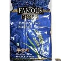 Famous Gold Pure Long Grain Basmati Rice - 10 lb