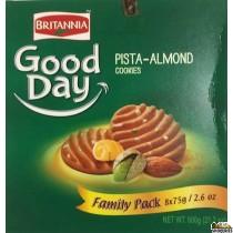 Britannia Good Day Pista Almond Biscuits FP - 600g