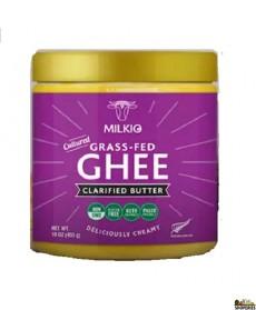 Milkio Cultured grass fed ghee - 16.8 Oz