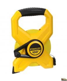 STANLEY 34-790 100-Foot Open Reel Fiberglass Long Tape Measure