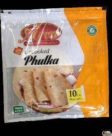 Arva - uncooked Whole Wheat Phulka Roti - 10 Count