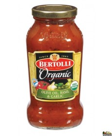 Bertolli Organic Tomato Sauce, Olive Oil, Basil & Garlic, 24 Oz