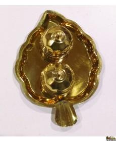 Brass Kumkum Leaf set