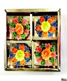 DECO ITC DIYA BOX With Wax - (4 PCS)