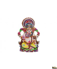"Eco Friendly Ganesha Idol 9"" Inch - White Color"
