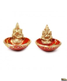 Laxmi  and Ganesh Bowl Diya - Set
