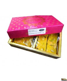 Prabhu Sweets Pista Badam Besan Burfi- 1 lb