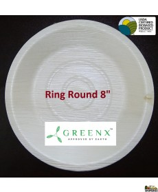 GREENX 8Inch Deep Round Bowl - (25 Plated)