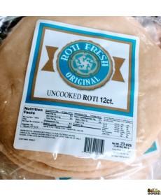 Roti Fresh Uncooked whole wheat Roti Chapati Original - 12 Rotis)