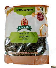 ORGANIC Laxmi Whole Moong - 2 lb
