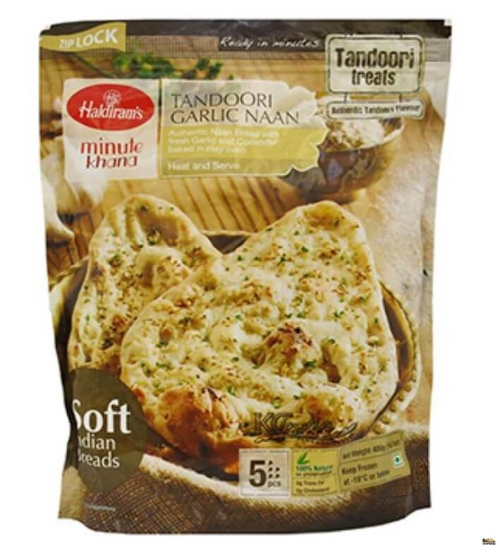 Haldirams Tandoori Garlic naan (Frozen) - 400 Gms