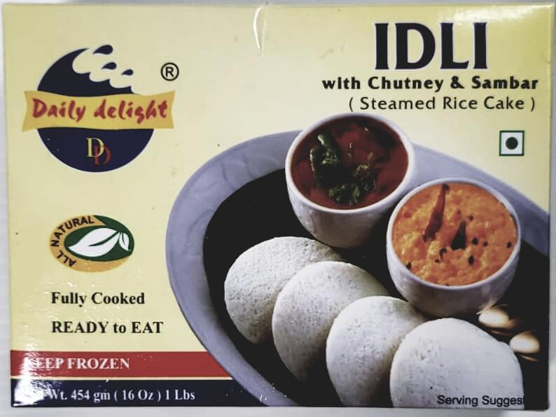 Daily Delight Idli with Chutney & Sambar (Frozen) - 1 lb