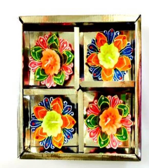 DECO ITC DIYA Box no wax(4 Pc)