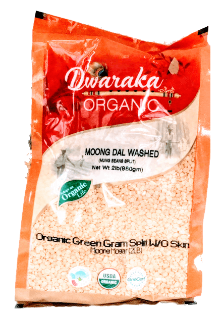 Sanjeevani Organic yellow moong dal split - 2 lb