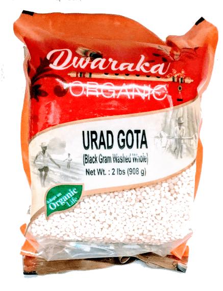 Dwaraka Organic urad Gotta (white)- 2 lb