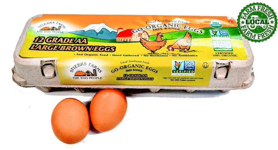 Go-Organic Grade AA Xtra Large Free Range brown Eggs - 12 Count