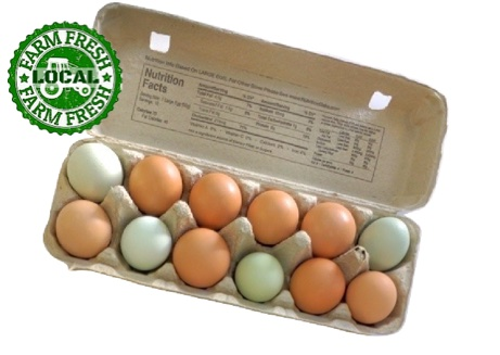 Free Range Pasture Raised Eggs - 12 Count