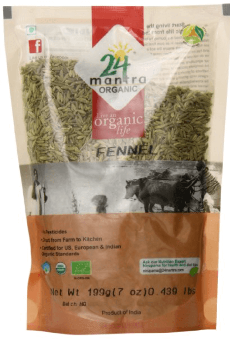 Organic Fennel Seeds - 7 oz