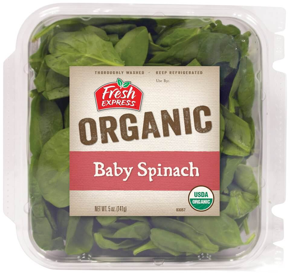 USDA Organic Baby Spinach - 5 Oz