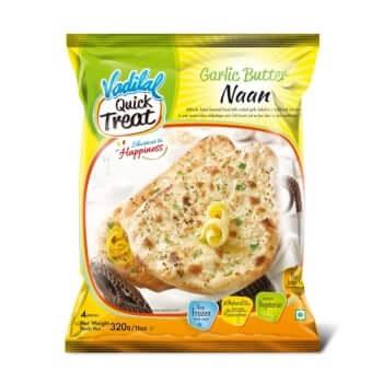 Vadilal Treats garlic butter naan (Frozen) - 320 Gms