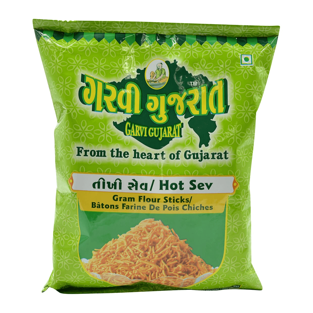 Garvi Gujarati hot Sev (Spicy gram flour sticks) - 10 Oz