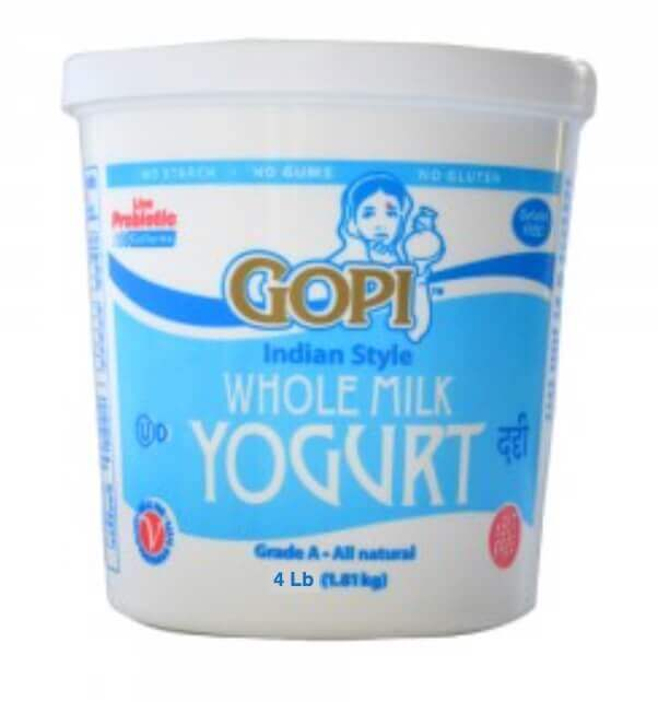 Gopi whole milk Yogurt - 4 lb