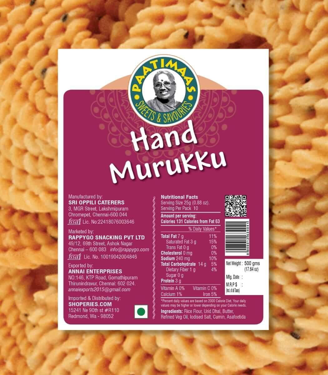 Paatimaas Fresh Hand Murukku By Air