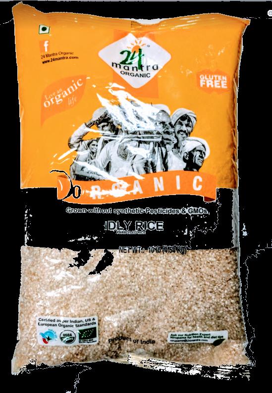 ORGANIC  idli rice - 10 lb
