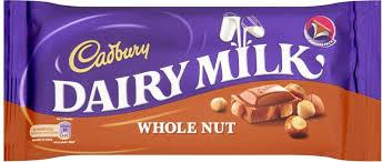 Cadbury Dairy Milk Whole Nut Chocolate bar - 200gm
