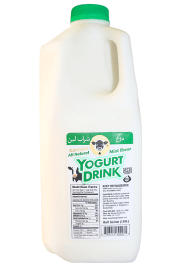 Karoun Yogurt Drink Mint 1/2 gal