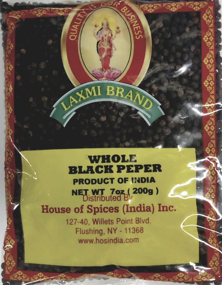 Siva whole black pepper - 7 Oz