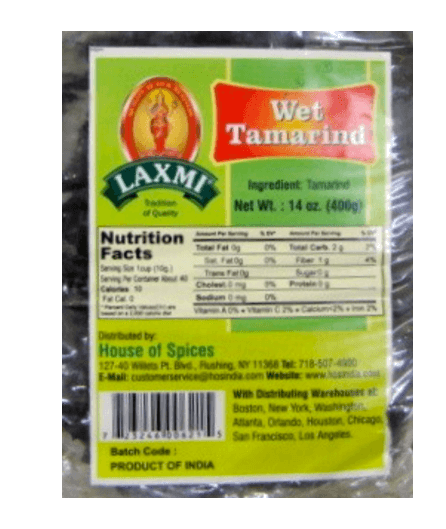 Thailand Tamarind Wet seedless 400g