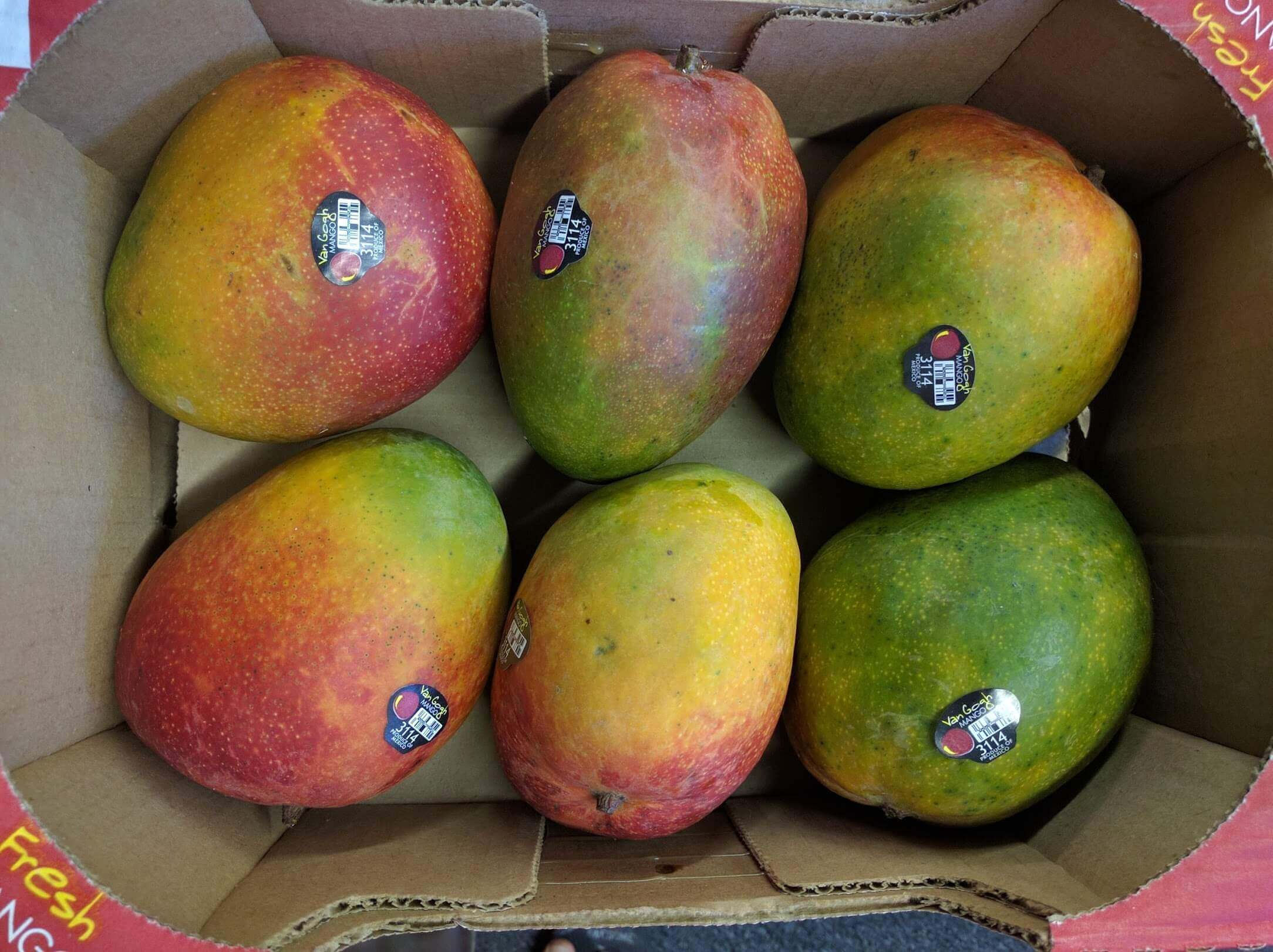 Sweet Extra Large Kent Mangoes - 1 Case (9-10 count)