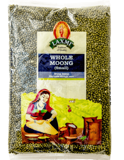 GREEN MOONG WHOLE - 2 lb