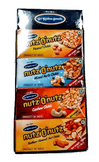 Sri Krishna Sweets Nutz O Nutz 4 x 30 gms