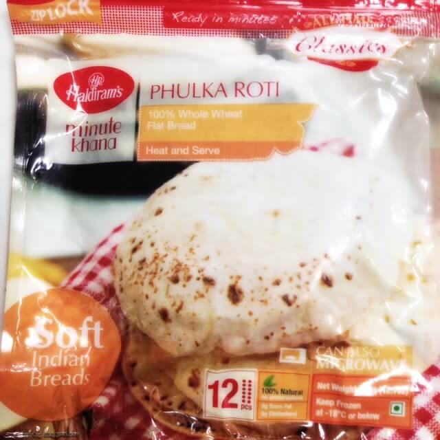 Haldirams Phulka Roti 360g (Frozen)