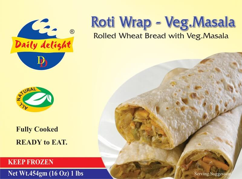 Daily Delight Roti Wrap - Peas Masala - 16 Oz
