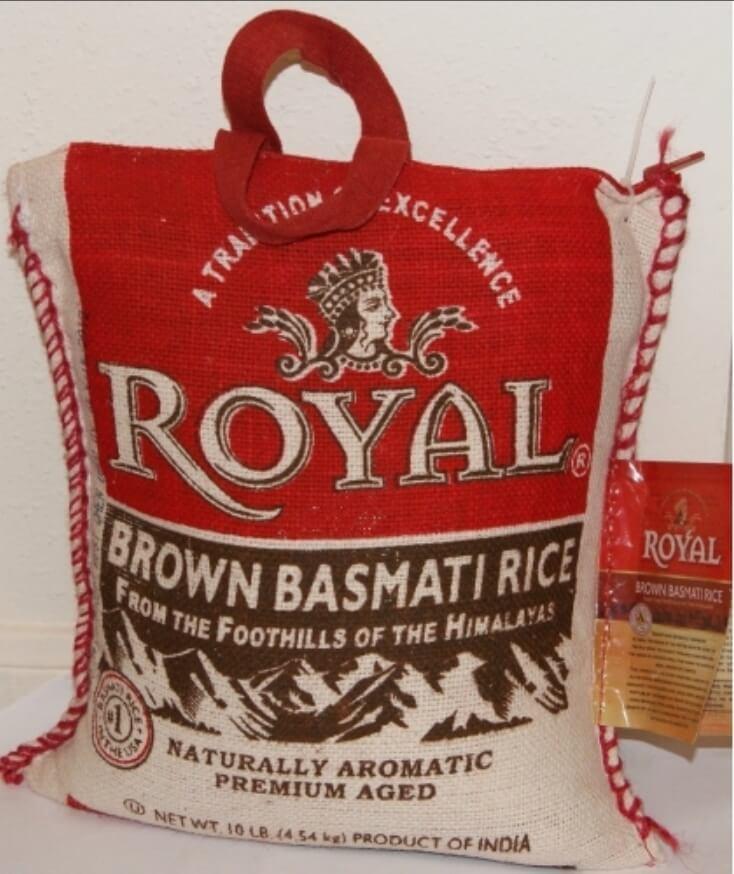 Royal Brown Basmati Rice - 10 lb