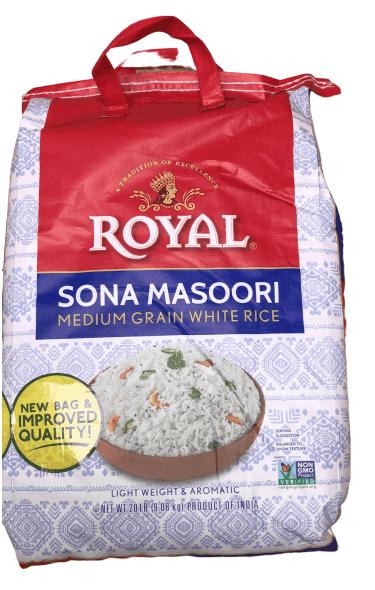Royal Sona Masoori Rice - 20 lb