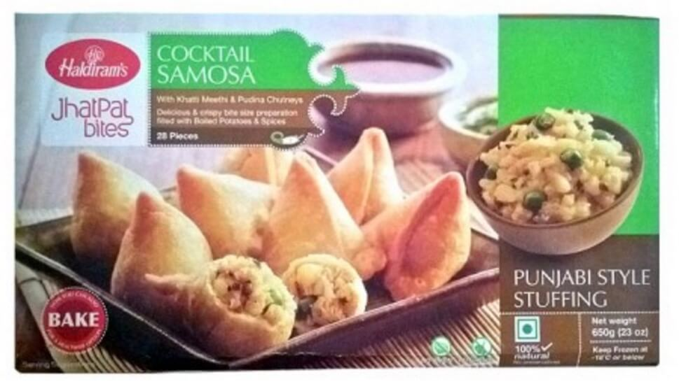 Haldirams Cocktail Samosa (Frozen) - 650g 28 PIECES
