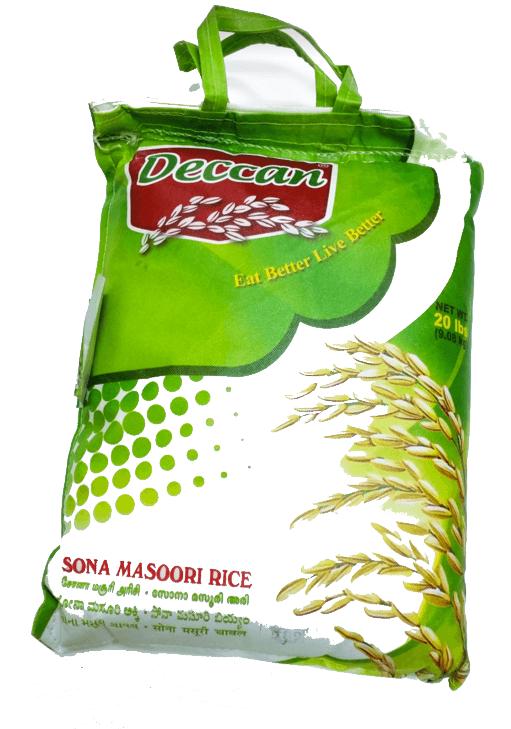 Deccan Sona Masoori Rice - 20 lb (big bag)