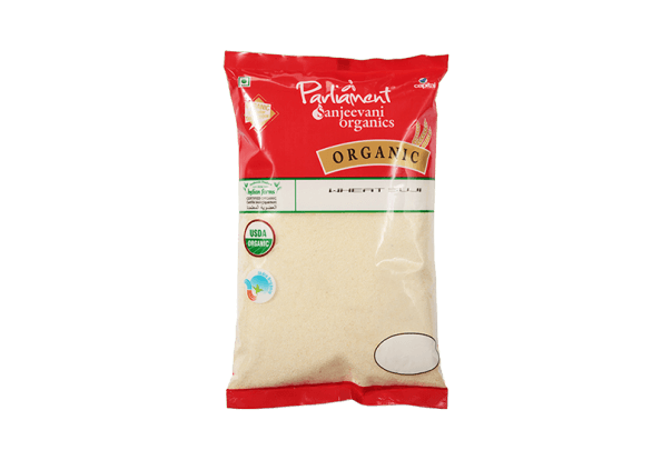 Nature Land Organic Wheat Suji flour - 2 lb