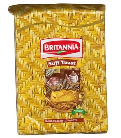 Britannia Biscuit Semolina / Wheat Rusk Toast  8.3 Oz