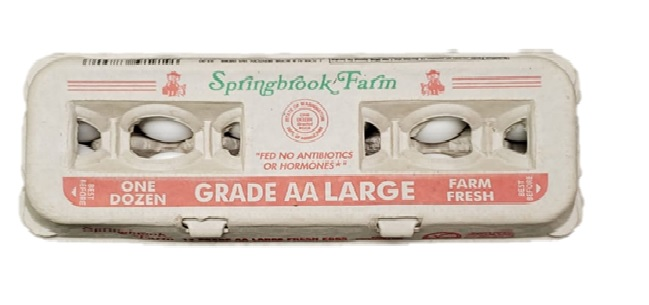 Spring Brook Grade AA Large White Eggs - 12 Count