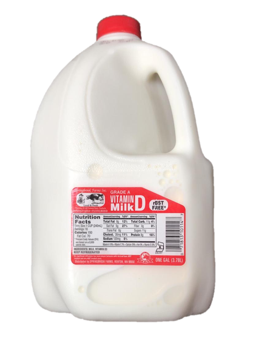 Spring Brook whole Milk - 1 gal