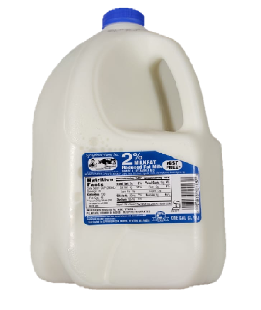 Spring Brook 2% Milk - 1 gal