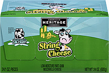 American Heritage All Natural String Cheese 1 oz - 24 Count