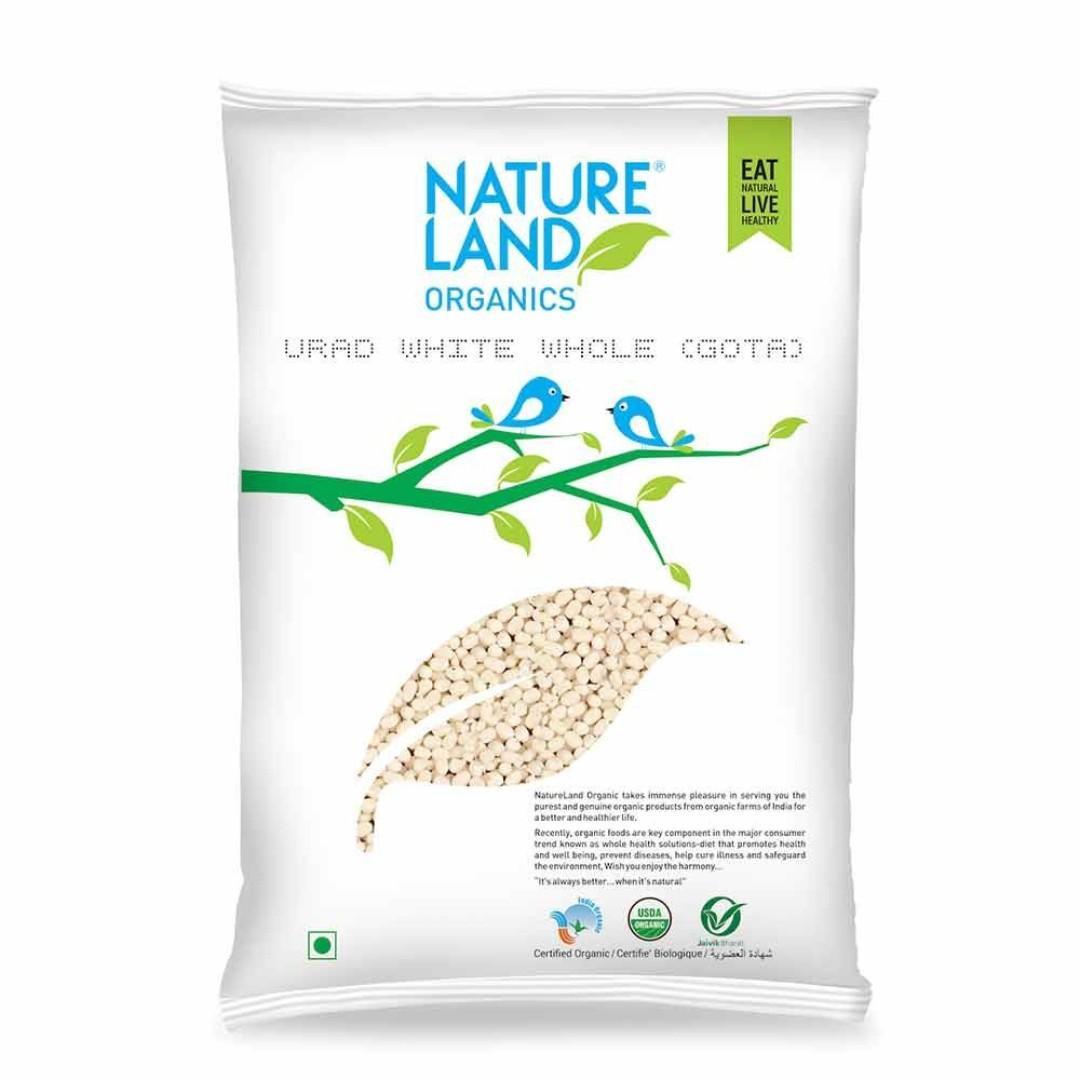 Nature Land ORGANIC Urad Dal Gotta (White) - 5 lb